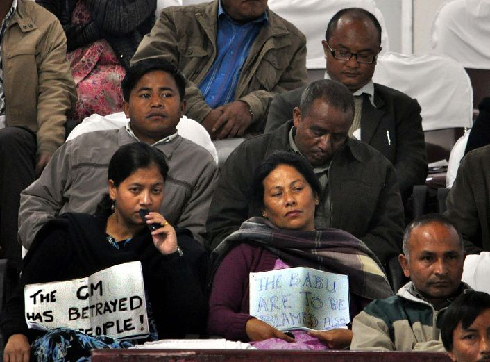 Protest Inside Meghalaya Assembly