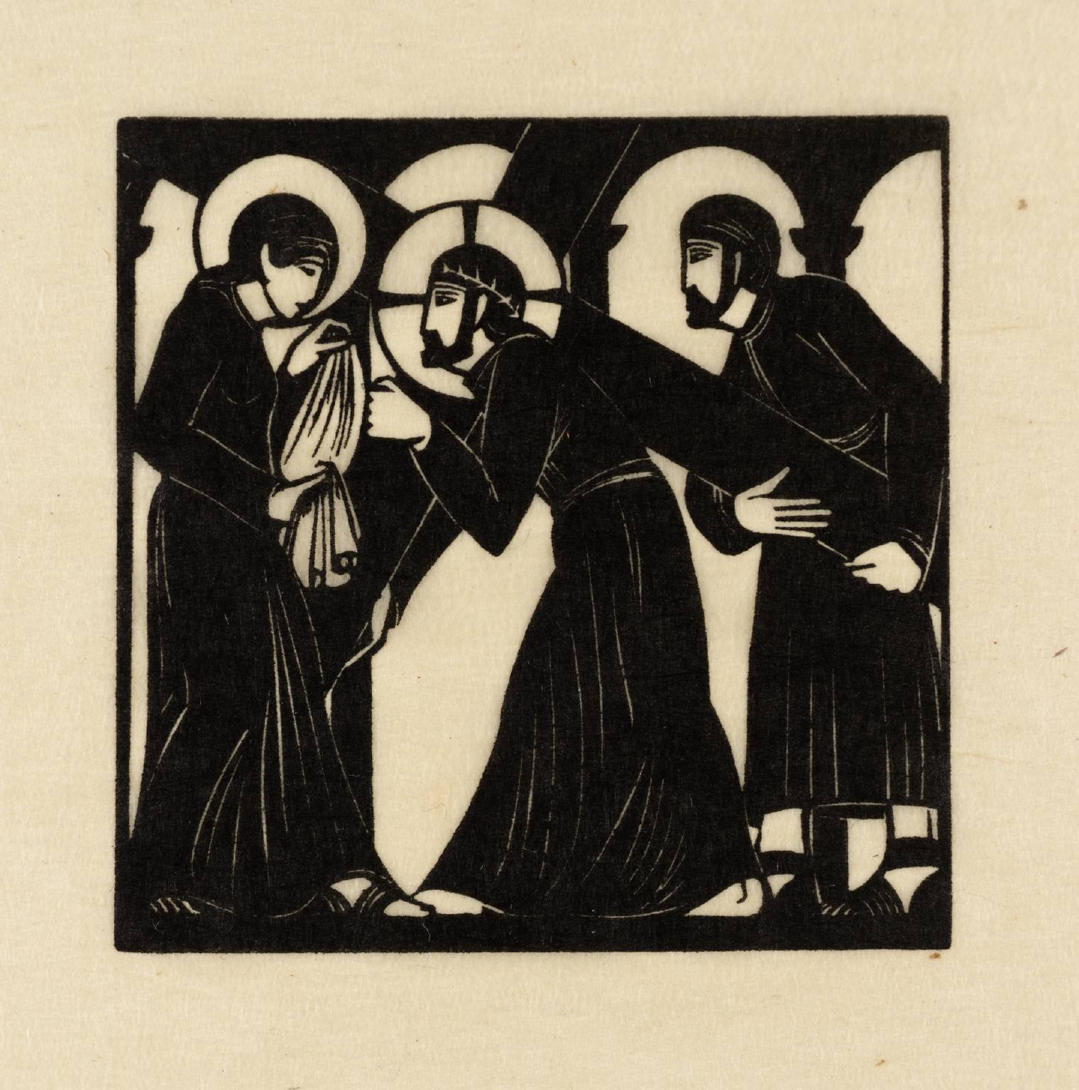 Jesus Meets Veronica 1917 Eric Gill 1882-1940 http://www.tate.org.uk/art/work/P08056