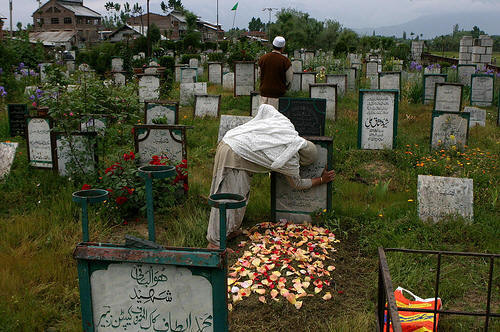 A Wailing Mother in the Martyrs Graveyard, Srinagar