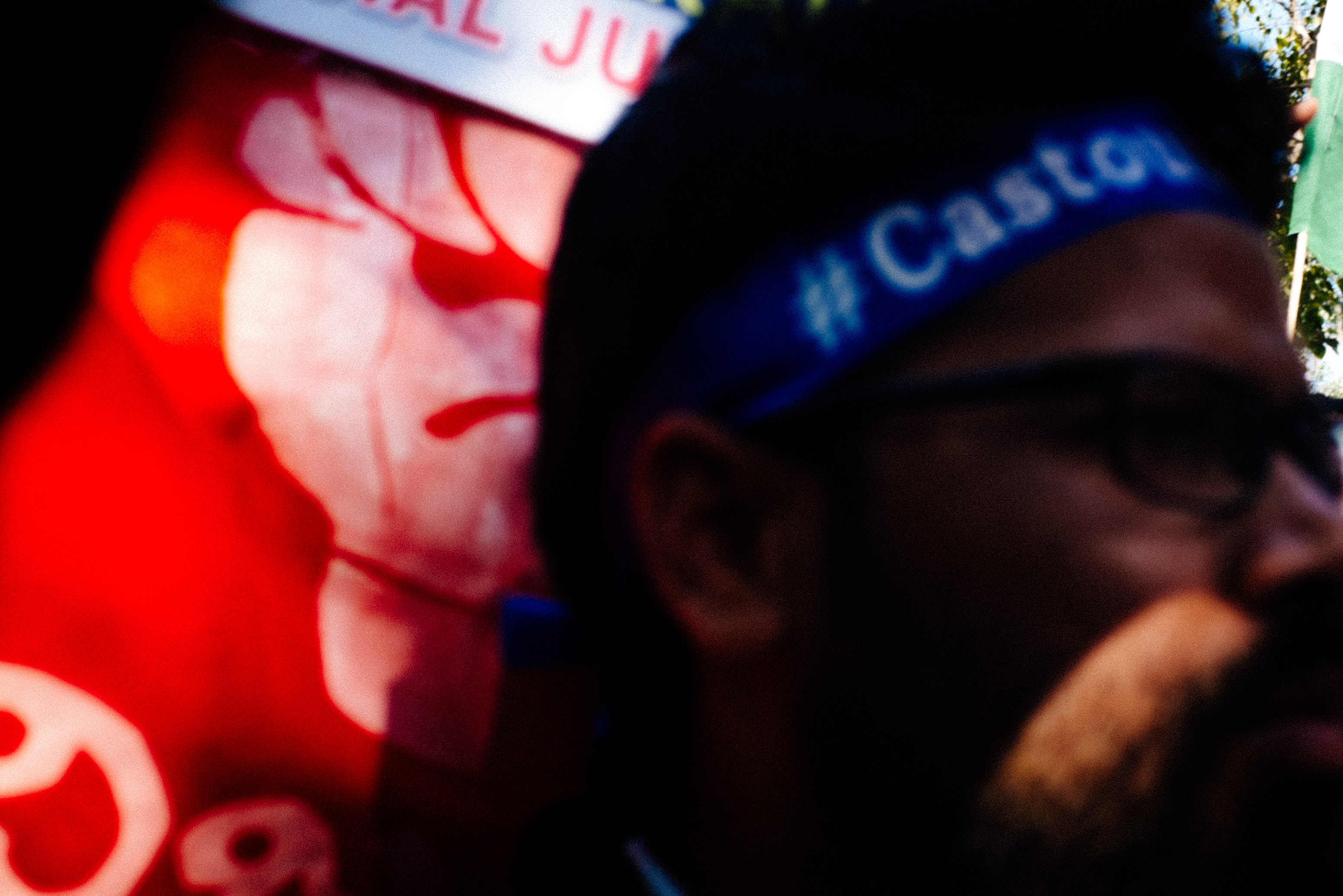 Red Blue Caste Protest
