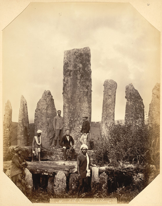 Monolith Stones photographed by Oscar Jean Baptiste Mallitte, 1860s