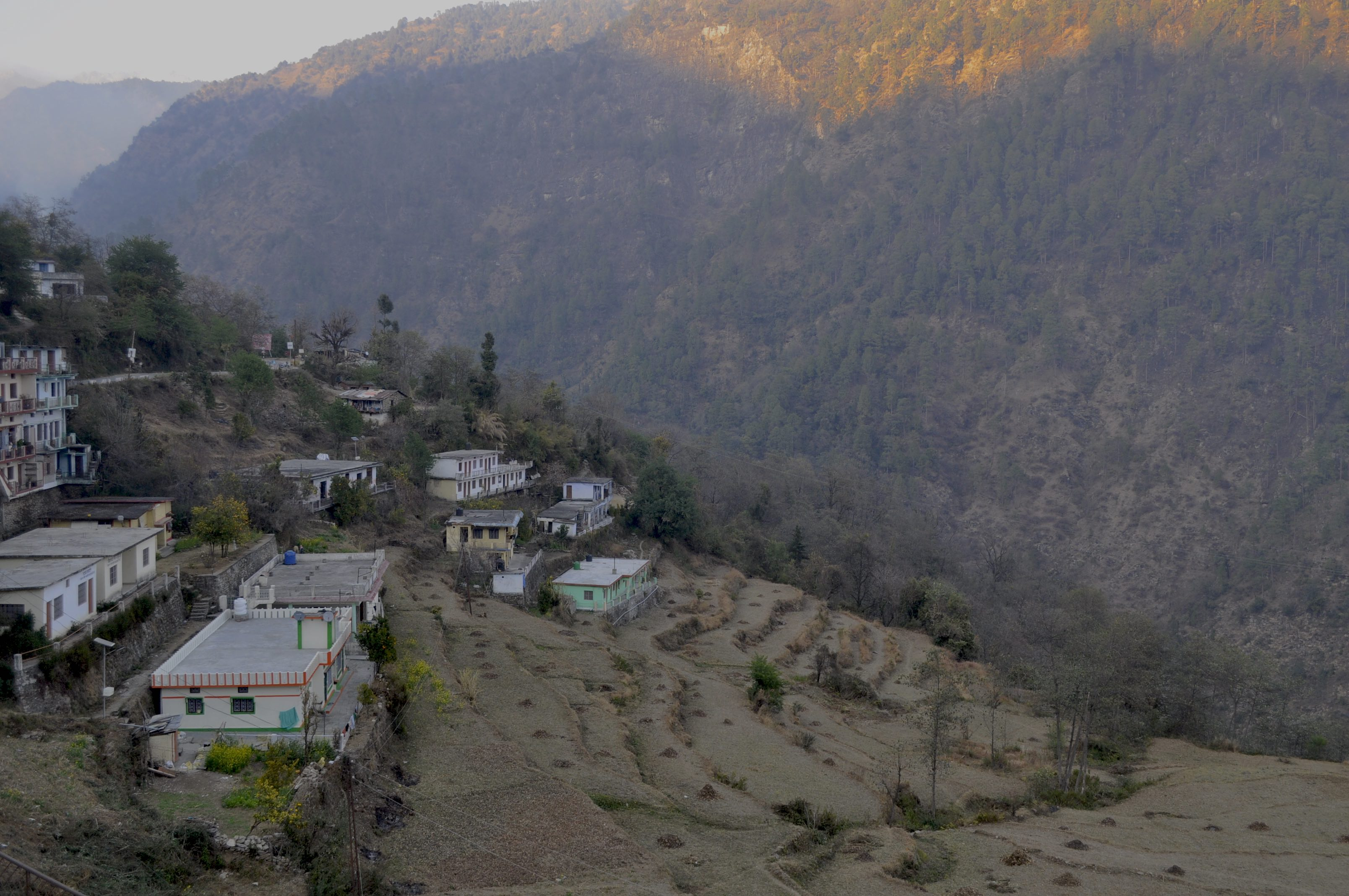 Phata village and fields
