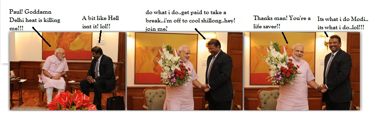 modi and pauil