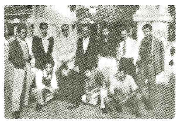 ALL ASSAM INTER-COLLEGE MUSIC COMPETITION, 1959 (TEZPUR) — Standing (left to right) : Bah Ganold S Massar, Bah L.Gilbert Shullai, Bah Nando E Wankhar, Bah H. Teslett Pariat, Bah Bevan L Swer, Bah Webster Davies Jyrwa, Bah Densil Lyngdoh. Sitting (left to right) : Bah Newland Sohliya, Bah Sumar Singh Sawain, Bah Teddy Pakyntein, Bah Nestor Dkhar